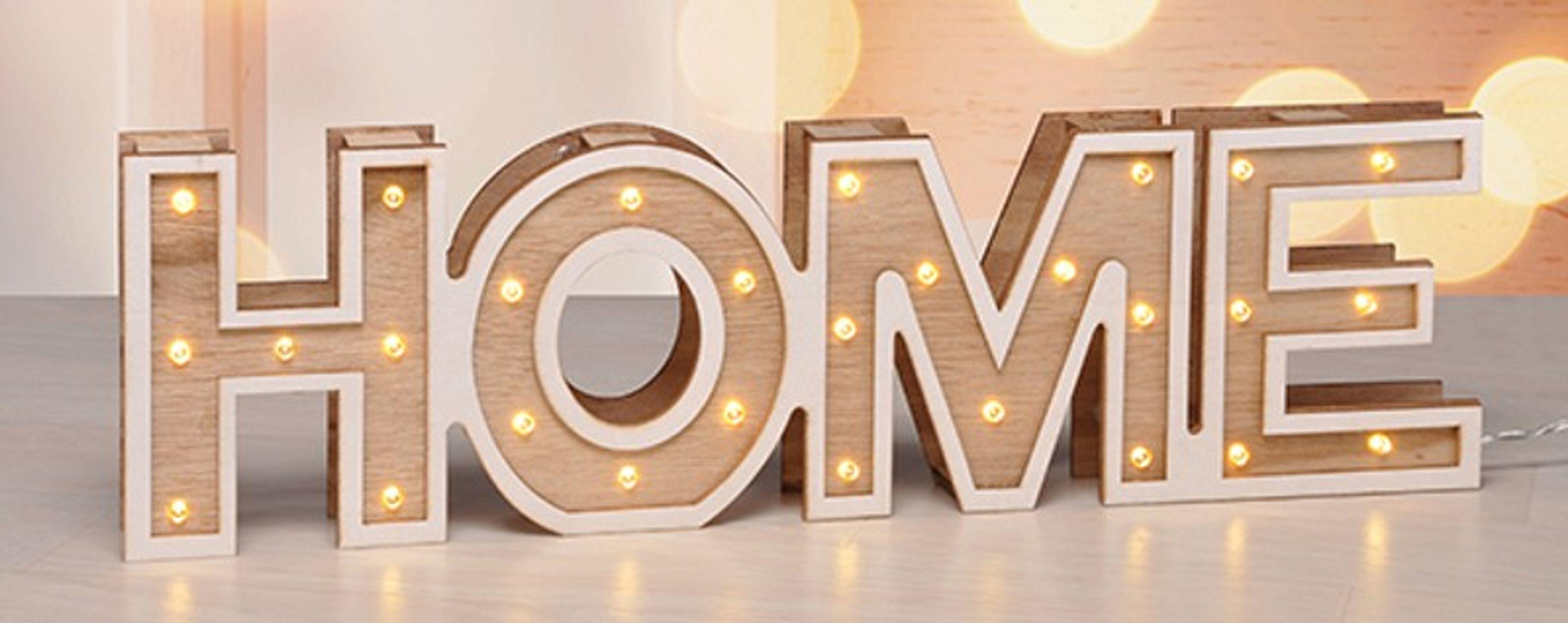 LED Deko Licht Home Love Beleuchtung Dekoleuchte Schriftzug ...