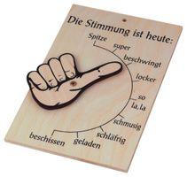 Stimmungsbarometer Stimmungsanzeiger Stimmungsschild Holz 17x11cm