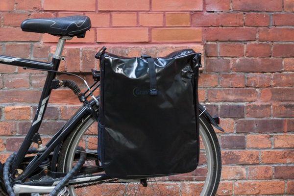 fahrradtasche gep cktr gertasche satteltasche lkw plane neues modell schwarz. Black Bedroom Furniture Sets. Home Design Ideas