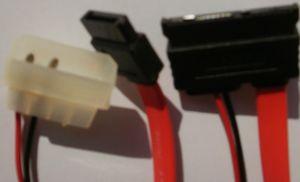 40cm S-ATA SATA Adapter Strom + Daten 7-pin + 15-pin