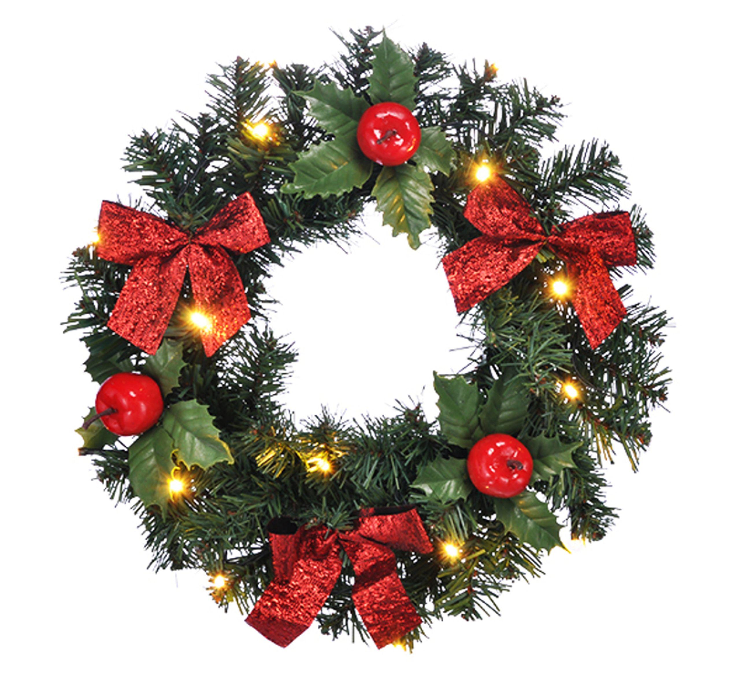 Weihnachtsdeko Kranz beleuchteter weihnachts türkranz weihnachten lichterkranz kranz