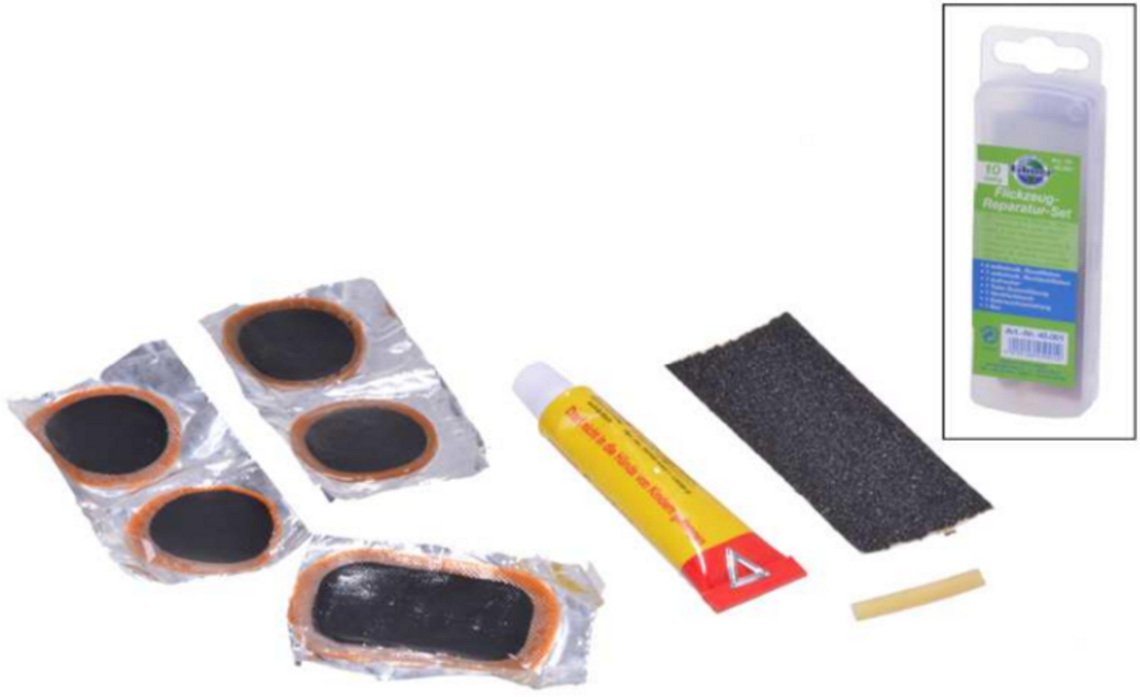 fahrrad set reparatur flickzeug f r reifen 10 teilig. Black Bedroom Furniture Sets. Home Design Ideas