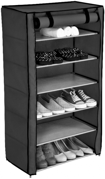 Schuhschrank schuhregal faltschrank regal stoffregal schuhablage mit 6 ablagen - Schuhschrank faltschrank ...
