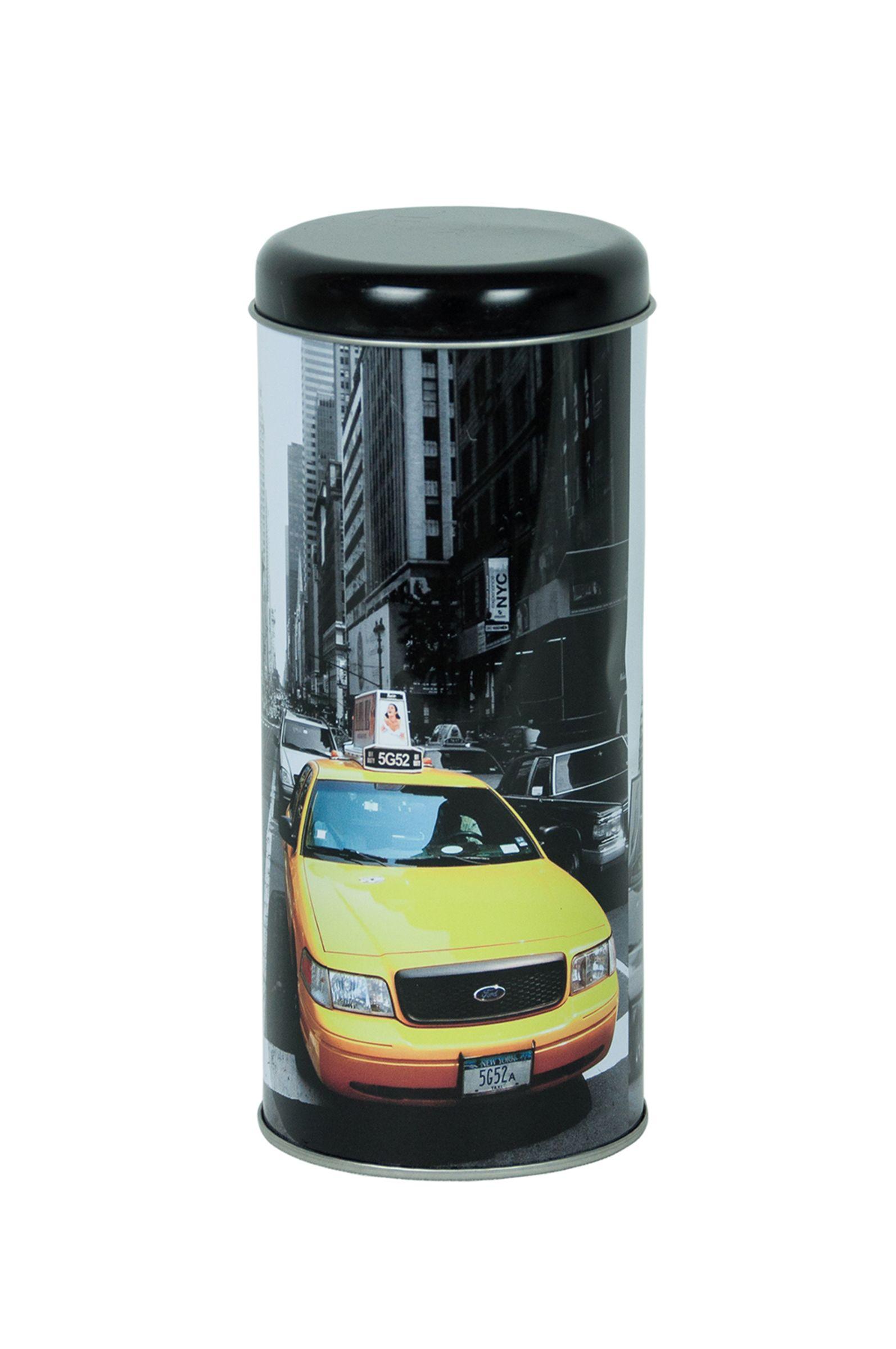 Kaffeepaddose Kaffeepad Dose Vorratsdose Kaffee Pulver Bohnen mit New York Motiv