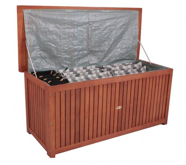 hartholz auflagenbox sitztruhe gartenbox kissenbox box aufbewahrung kiste ebay. Black Bedroom Furniture Sets. Home Design Ideas