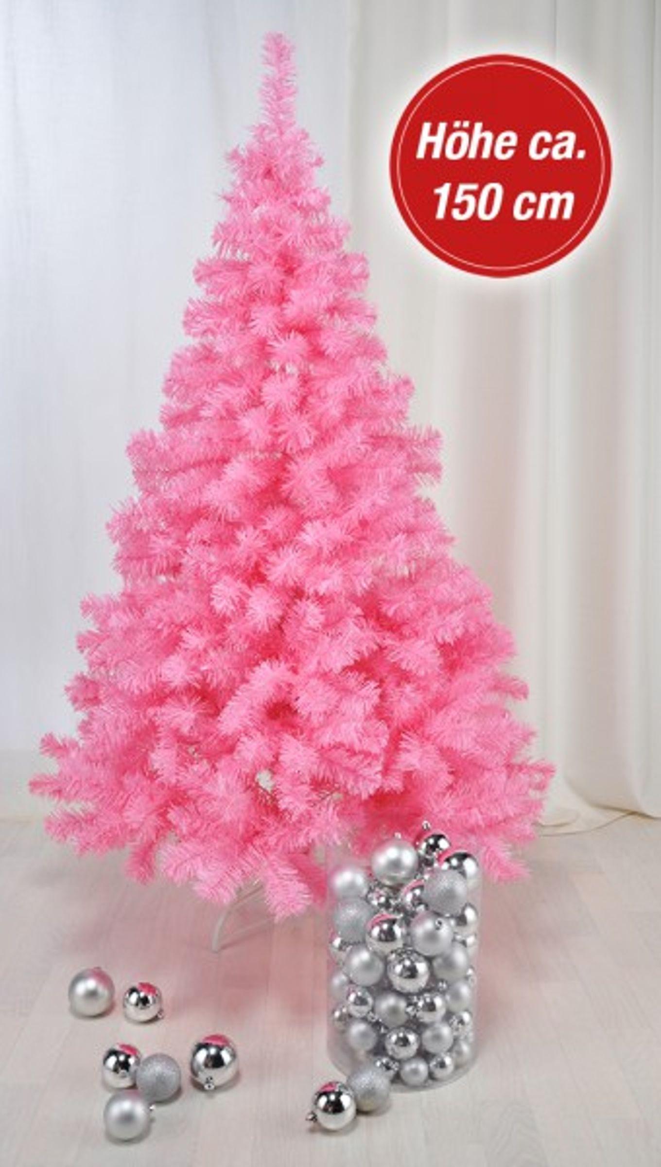 k nstlicher weihnachtsbaum in pink tannenbaum kunstbaum. Black Bedroom Furniture Sets. Home Design Ideas