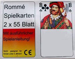 2x55 Romme Karten Kartenspiel Spielkarten Rommekarten Canasta Bridge Skat Poker