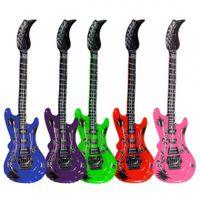 Aufblasbare Luftgitarre Rockstar Luft Gitarre Guitar Party Karneval bunt 100 cm