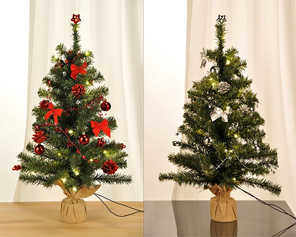 weihnachtsbaum geschm ckt tannenbaum christbaum tanne mit 20 warmwei en led 75cm ebay. Black Bedroom Furniture Sets. Home Design Ideas