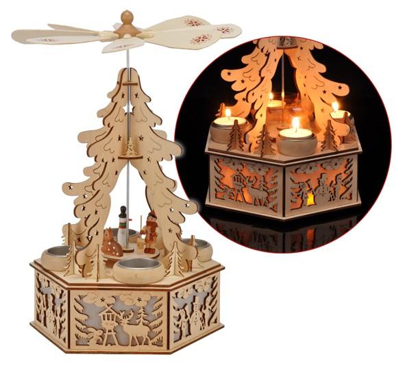holz weihnachtspyramide weihnachtsdeko weihnachten led beleuchtung teelichter ebay. Black Bedroom Furniture Sets. Home Design Ideas