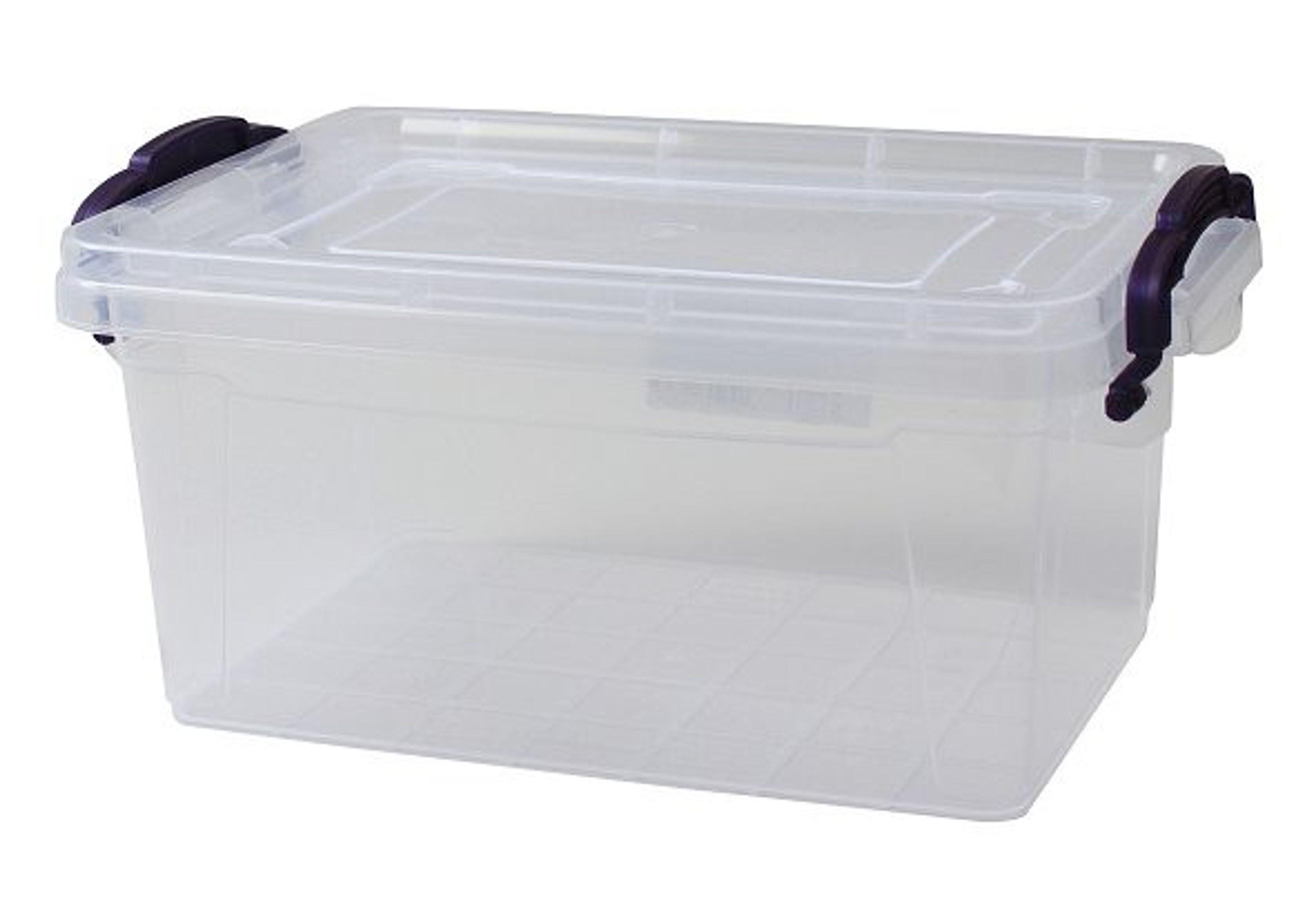 aufbewahrungsbox mit deckel griffen box lagerbox aufbewahrungskiste stapelbox ebay. Black Bedroom Furniture Sets. Home Design Ideas