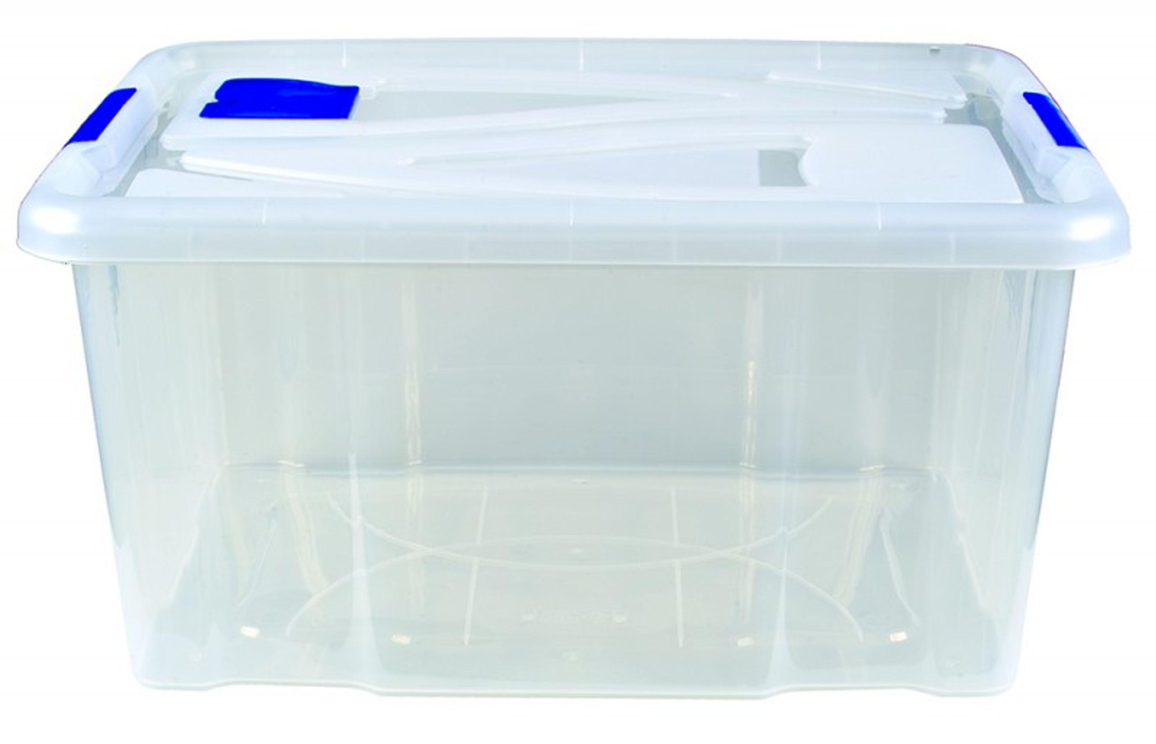 aufbewahrungsbox mit deckel box lagerbox aufbewahrungskiste kiste 55 liter ebay. Black Bedroom Furniture Sets. Home Design Ideas
