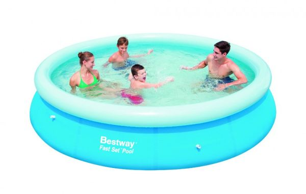bestway fast set swimming pool planschbecken schwimmbecken rund 366x76cm ebay. Black Bedroom Furniture Sets. Home Design Ideas