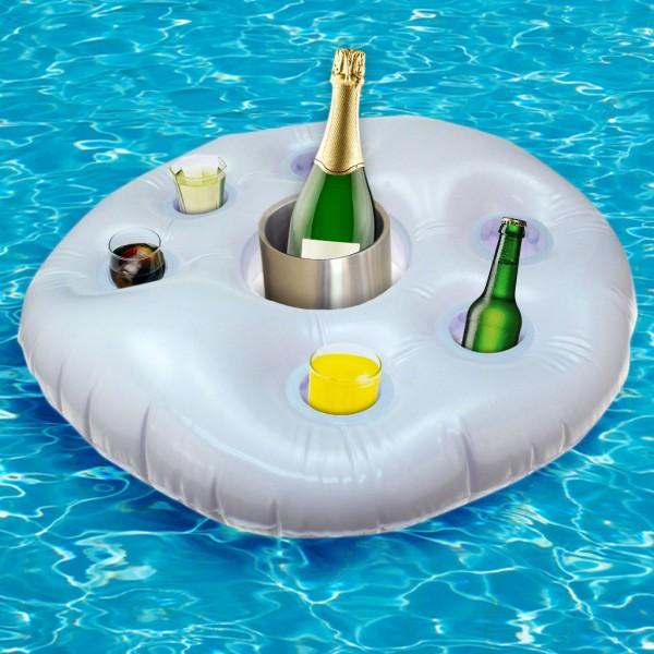 Aufblasbarer Getränkehalter Rettungsring Poolbar Pool Garten Bar ...