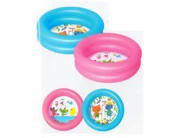 Bestway Kiddie Kinder Pool Planschbecken Schwimmbecken Aufblasbar mit 2 Ringen