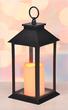 LED Laterne Windlicht Kerzenhalter Kerze Stumpenkerze Batteriebetrieben Bild 3