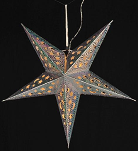 papierstern mit led beleuchtung adventstern weihnachtsstern leuchtstern 43 cm ebay