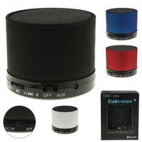 "Hochwertige 2.0 Bluetooth Lautsprecher UKW-Radio ""cubi-man"" kabellos Aluminium"