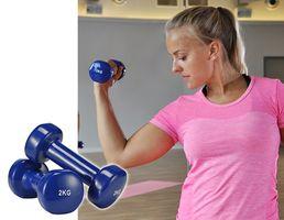 2er Set Hanteln Gewichte Kurzhantel Fitness Fausthantel Gymnastik Aerobic 2 kg