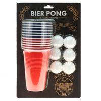 Trinkspiel Partyspiel Feierspiel Beer Bier Pong mit 12 Bechern und 6 Bällen