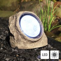 Solar-Stein Gartenstein Deko Garten Beleuchtung beleuchtet Stein mit 3 LED