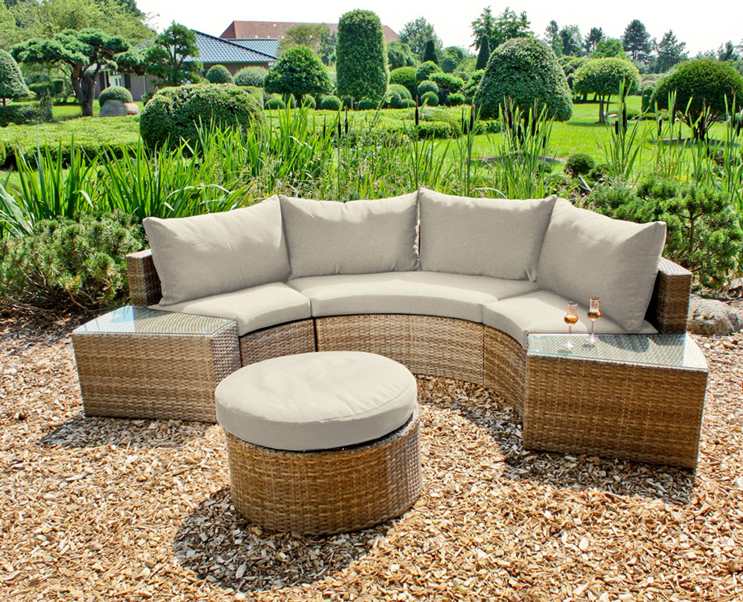 Garten Sofa Couch Sitzgruppe Sitzecke Tischgruppe Loungegruppe