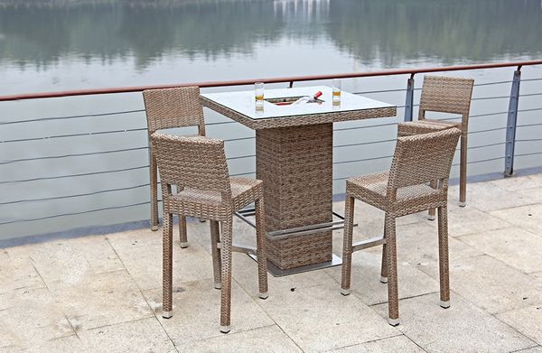 5 teiliges bar set barhocker bartisch stehtisch tisch stuhl garten terrasse garten baumarkt. Black Bedroom Furniture Sets. Home Design Ideas