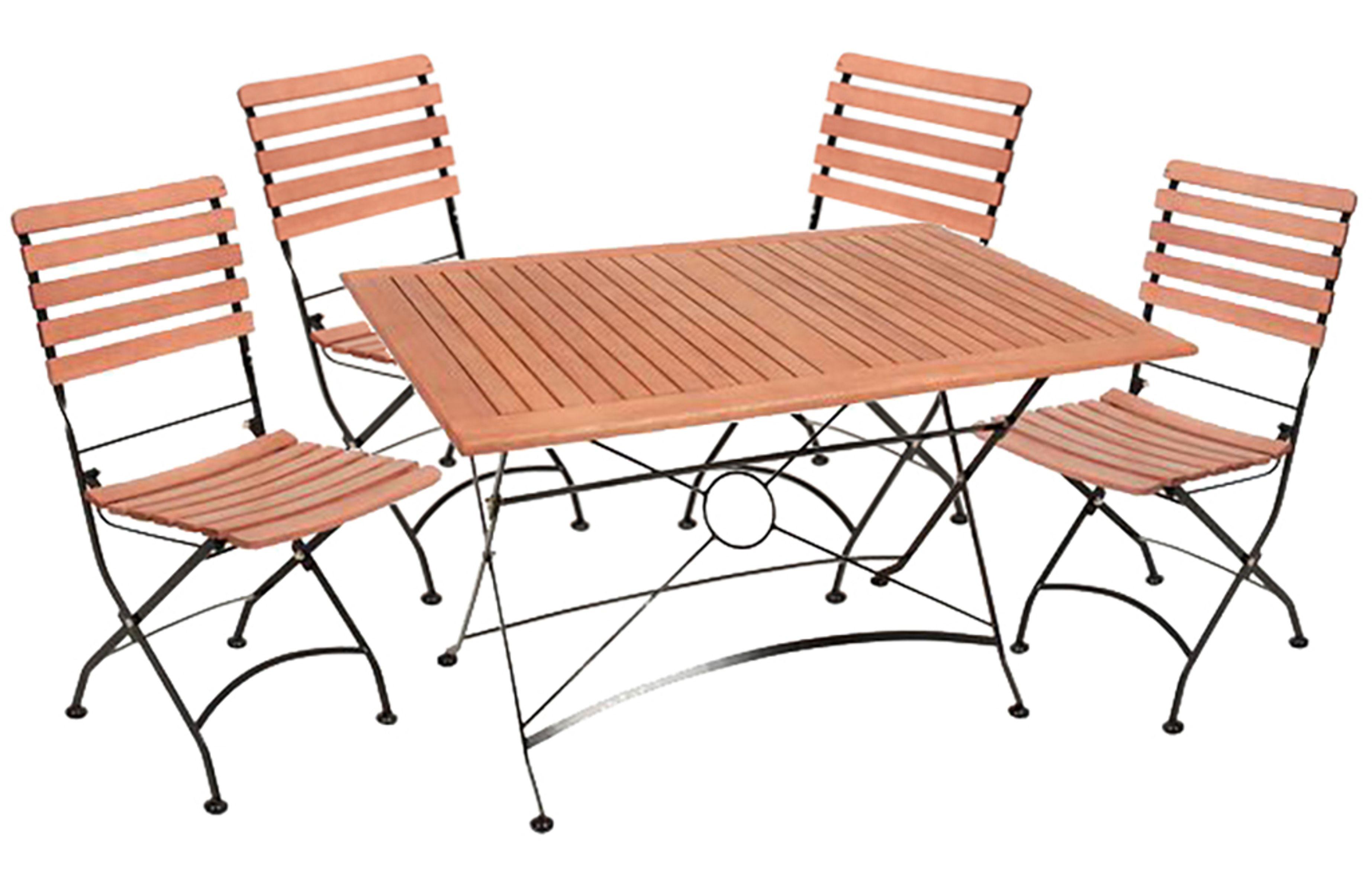 5 tlg gartengarnitur sitzgruppe sitzecke gartenm bel stuhl tisch garten balkon garten. Black Bedroom Furniture Sets. Home Design Ideas