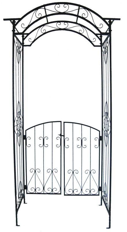 pforte gartenpforte gartentor tor hoftor zauntor eingang mit rosenbogen ebay. Black Bedroom Furniture Sets. Home Design Ideas