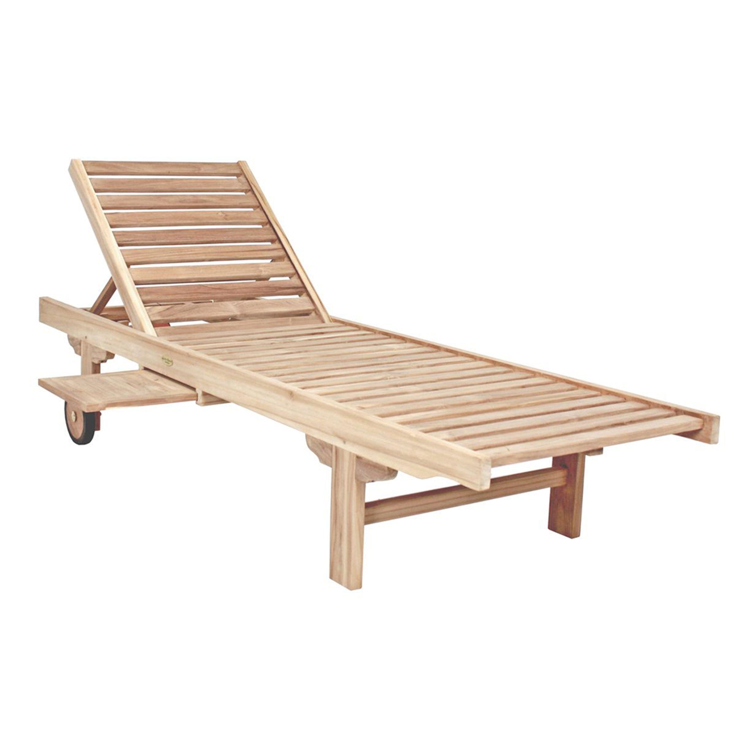 Sonnenliege Gartenliege Liegestuhl Liege Relaxliege Holz Teak Mit