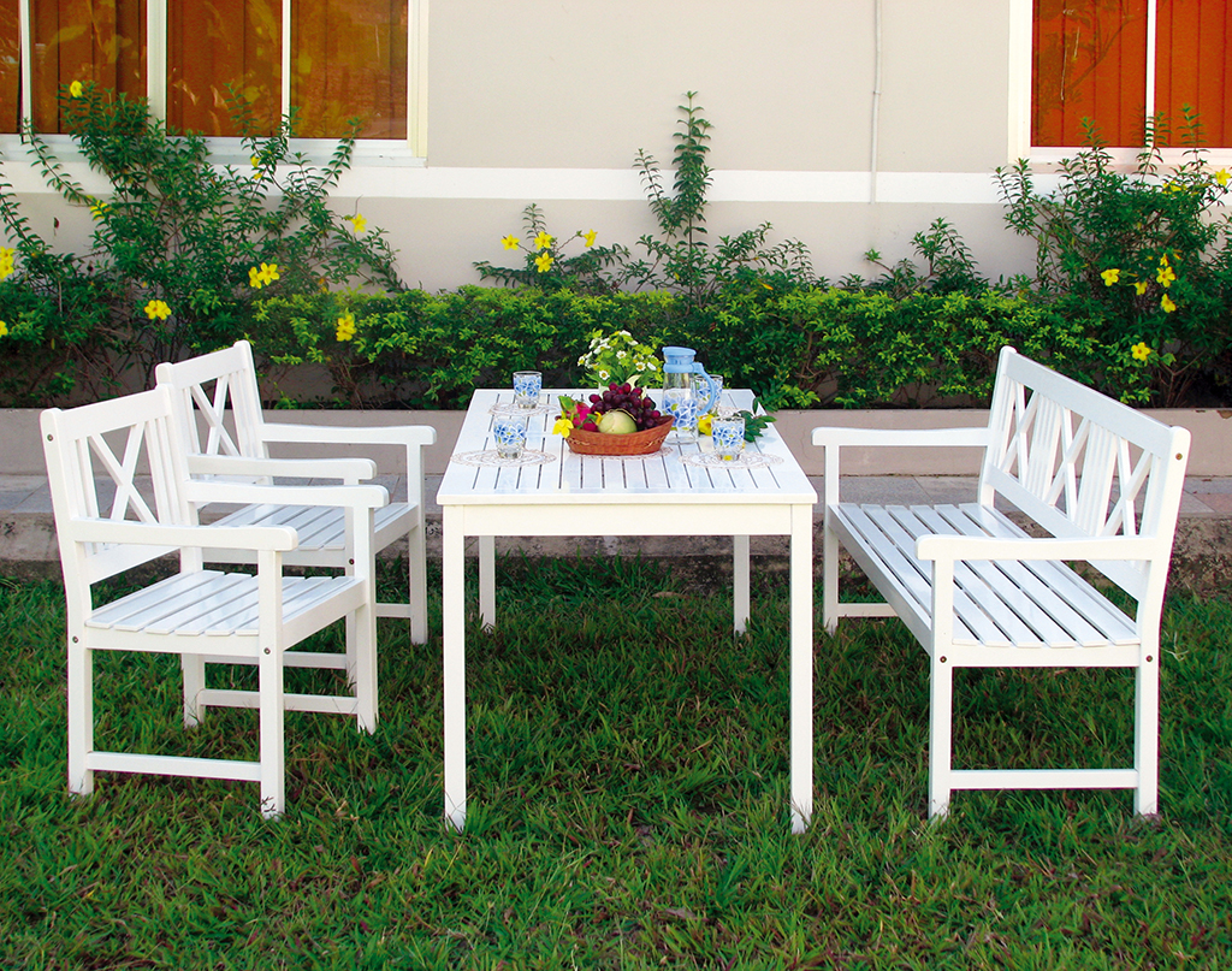 Sitzgruppe im garten gartenmobel sets  Tischgruppe Sitzgruppe Gartengarnitur Gartenmöbel Garten Bank Tisch ...