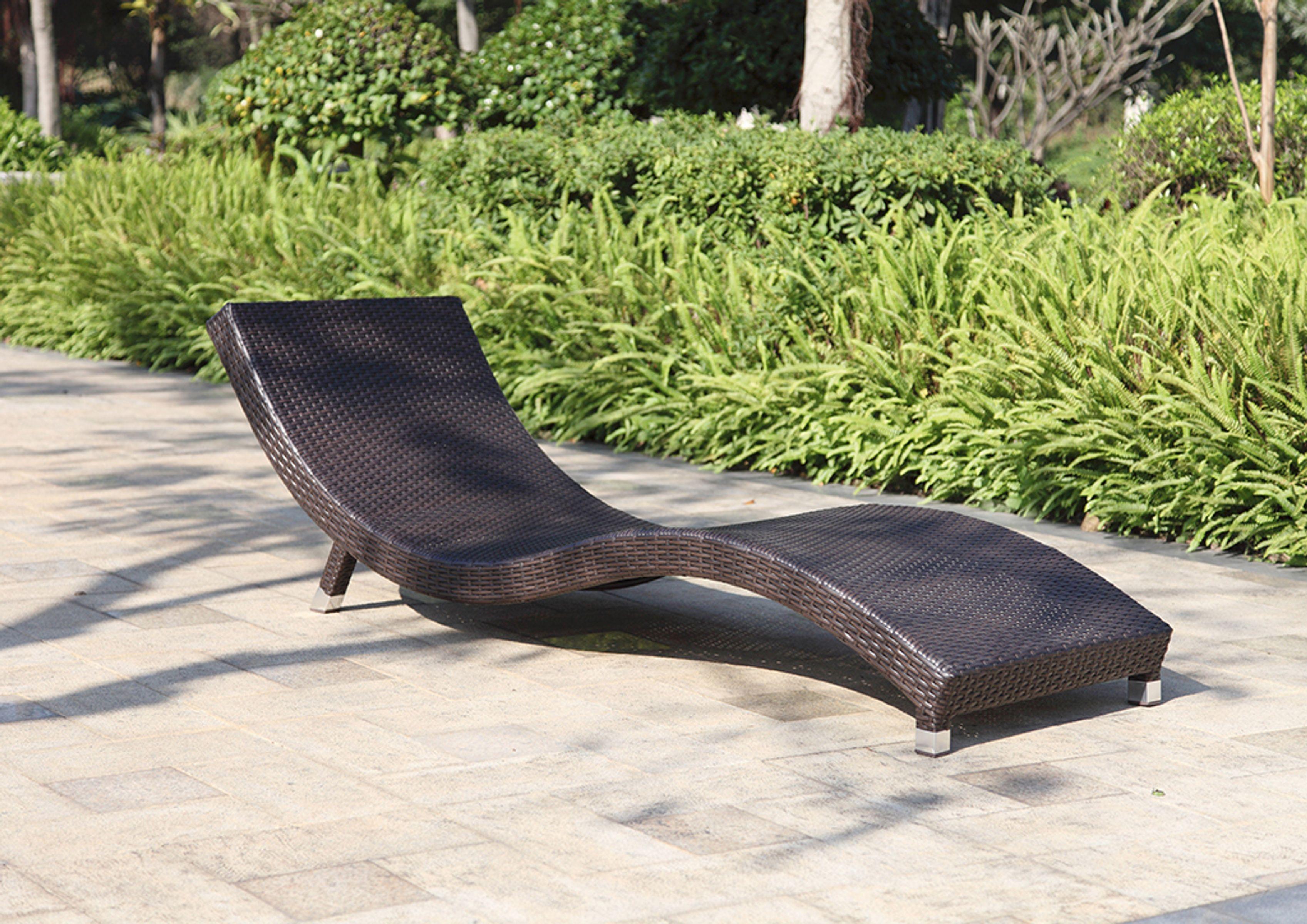 Sonnenliege Gartenliege Relaxliege Liegestuhl Garten Terrasse Balkon