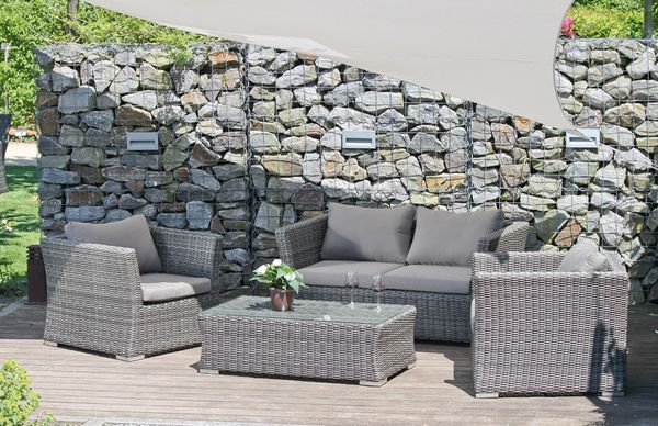 4tlg lounge gruppe garten terrasse sitzgruppe sitzecke sessel stuhl tisch ebay. Black Bedroom Furniture Sets. Home Design Ideas