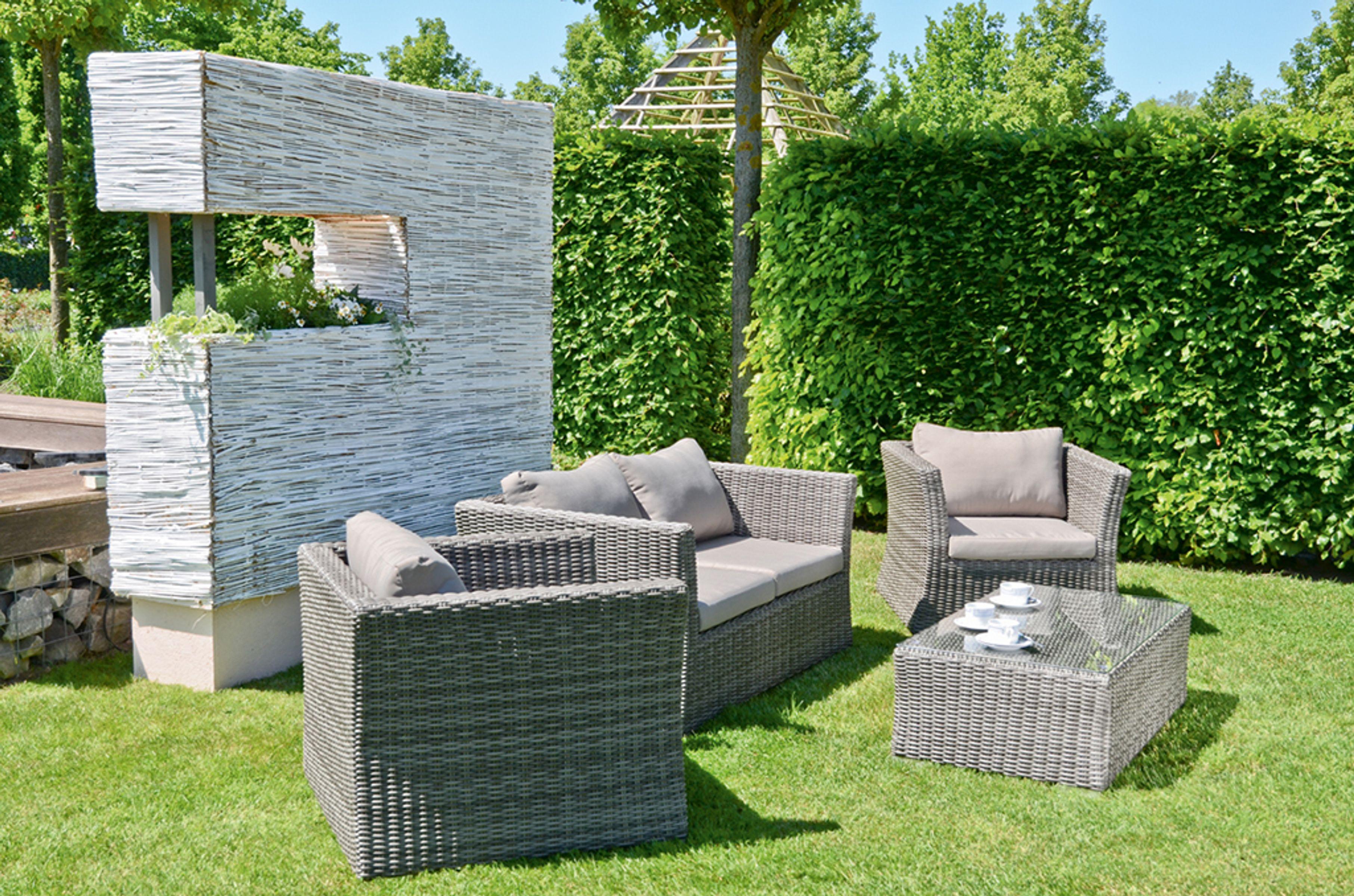 4tlg lounge gruppe garten terrasse sitzgruppe sitzecke sessel stuhl tisch ebay. Black Bedroom Furniture Sets. Home Design Ideas