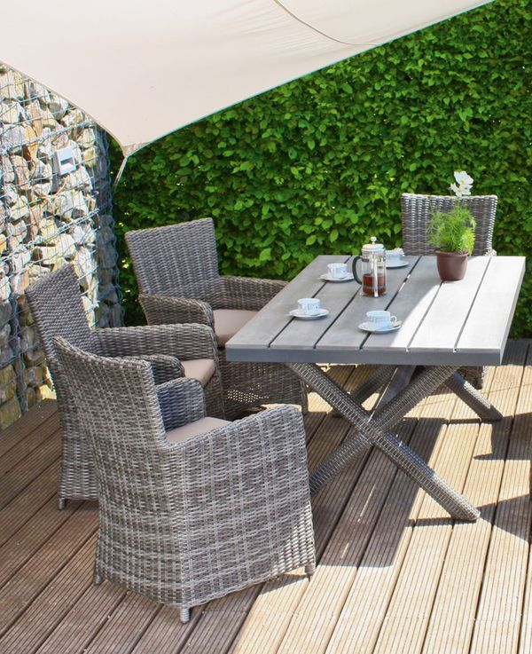 5 tlg gartenm bel sitzm bel sitzecke sitzgruppe lounge garten balkon terrasse ebay. Black Bedroom Furniture Sets. Home Design Ideas