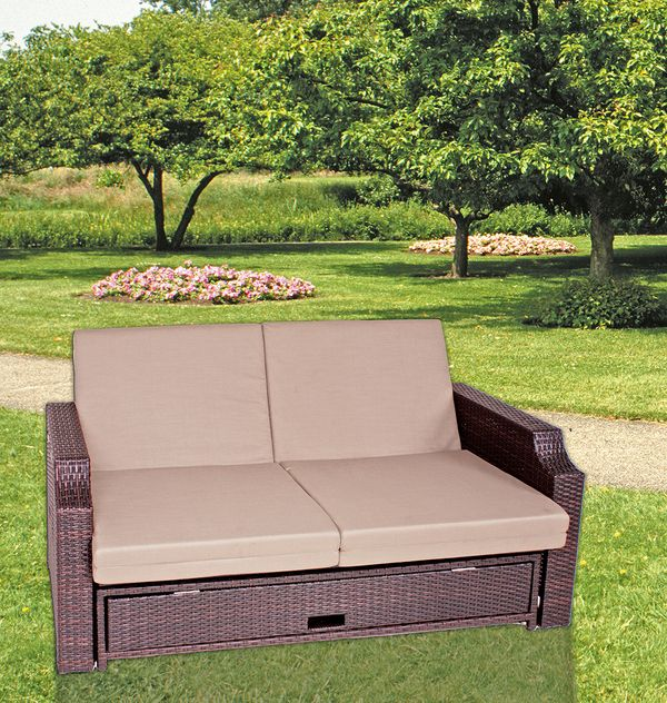 funktionssofa sofa couch garten terrasse liege lounge m bel relaxliege ebay. Black Bedroom Furniture Sets. Home Design Ideas