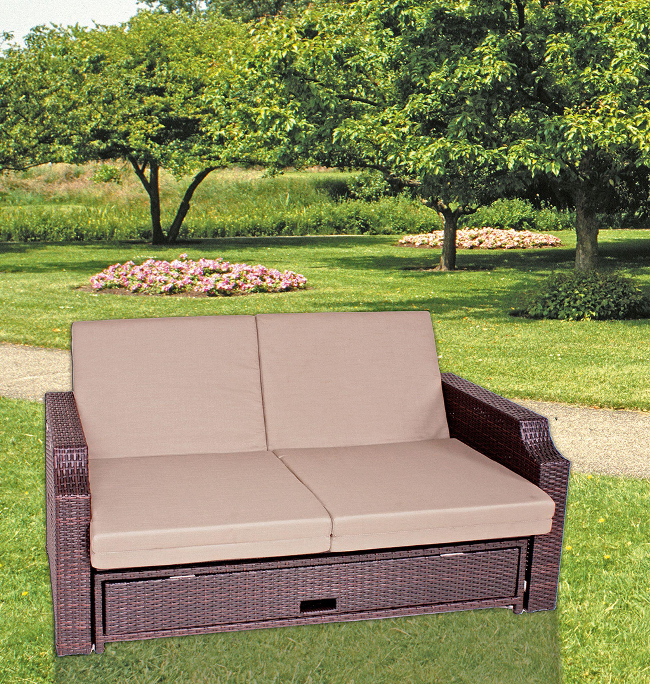 funktionssofa sofa couch garten terrasse liege lounge m bel relaxliege garten baumarkt. Black Bedroom Furniture Sets. Home Design Ideas