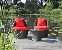 Club-Set Clubsessel Sessel Sitzgruppe Lounge Stuhl Tisch Balkonmöbel Gartenmöbel