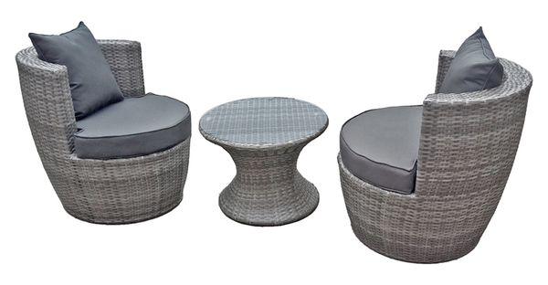 Clubsessel Club-Set Sessel Balkonmöbel Sitzgruppe Lounge Stuhl Tisch ...