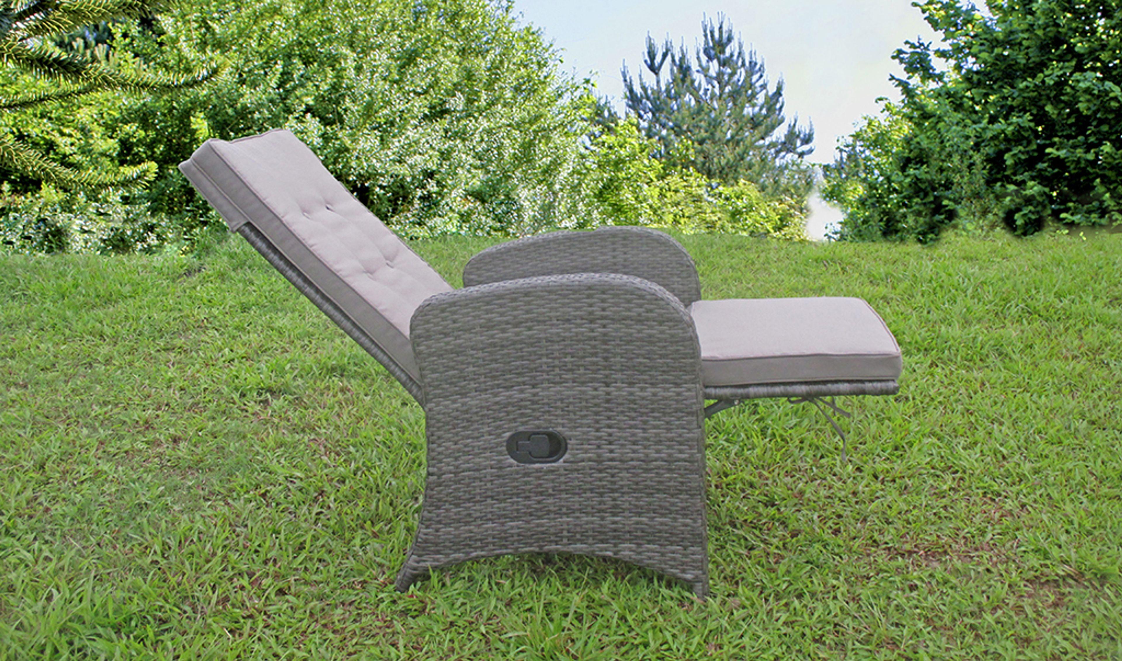 2 Stuck Relaxsessel Sessel Gartenstuhl Gartenliege Liegestuhl Garten Balkon