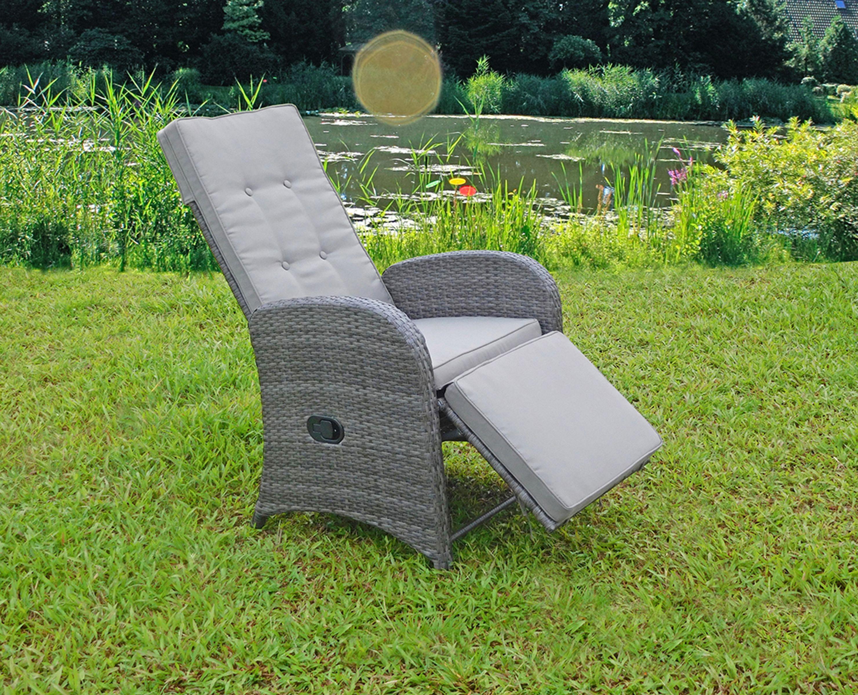 2 st ck relaxsessel sessel gartenstuhl gartenliege liegestuhl garten balkon garten baumarkt. Black Bedroom Furniture Sets. Home Design Ideas