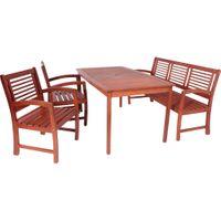 Tischgruppe Gartentisch Esstisch Gartenbank Stuhl Bank Tisch Garten Terrasse