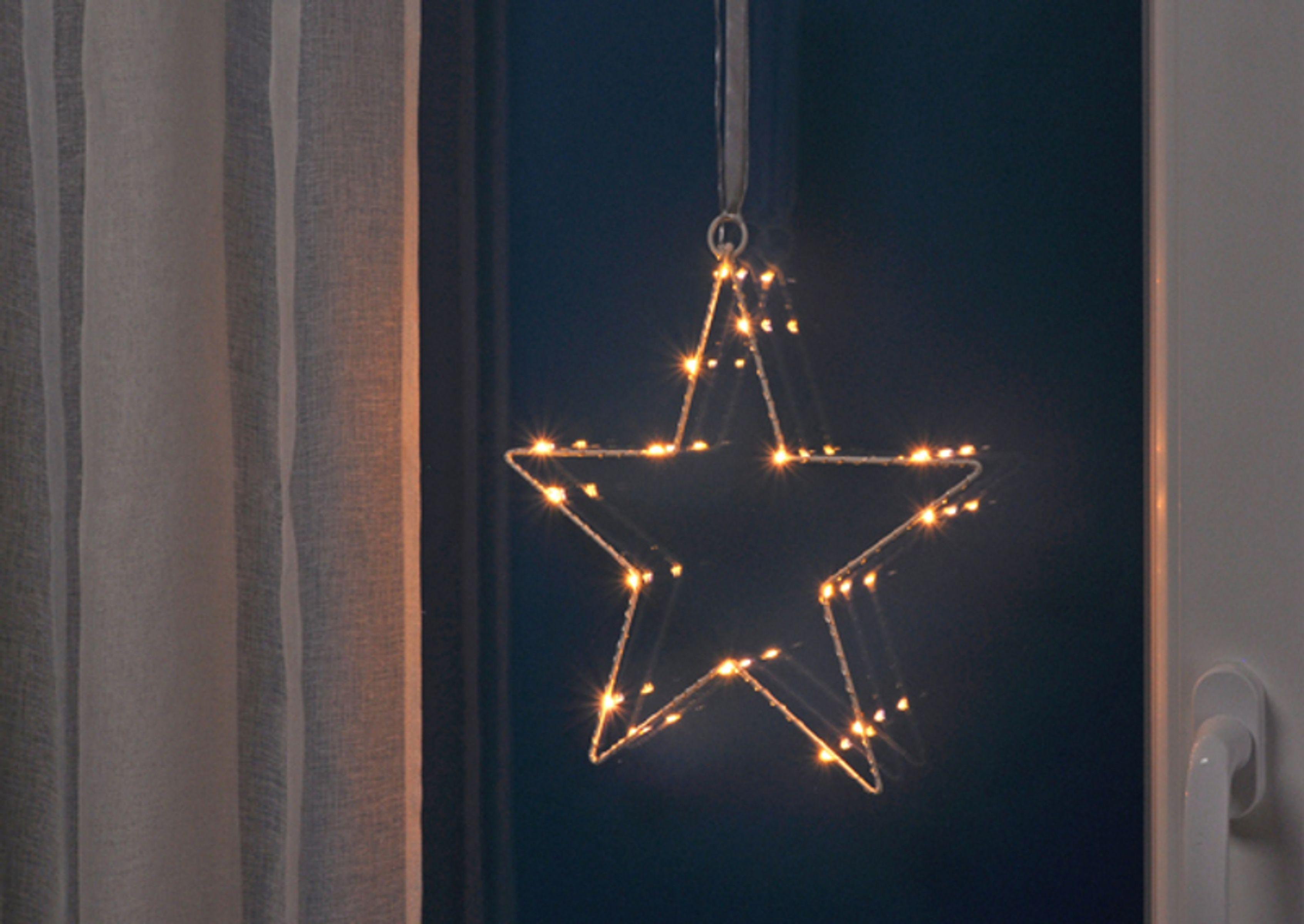 16 led silhouette weihnachtsstern fensterbeleuchtung - Weihnachts fensterdeko led ...