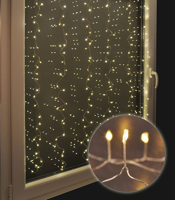 240 led lichtervorhang lichterkette vorhang beleuchtung fenster weihnachten ebay. Black Bedroom Furniture Sets. Home Design Ideas