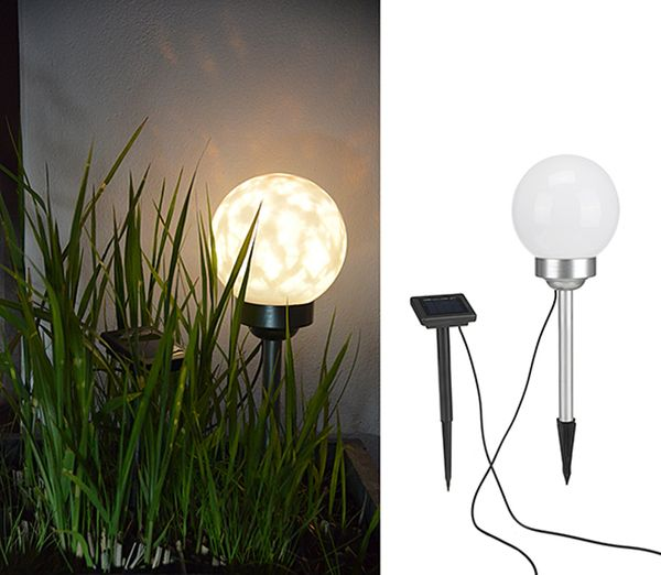 led solar kugellampe kugel lampe leuchte garten au en beleuchtung rotierend 15cm ebay. Black Bedroom Furniture Sets. Home Design Ideas
