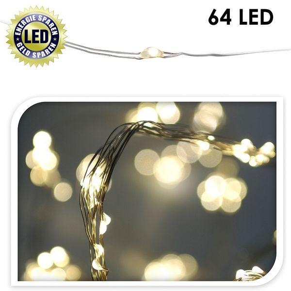 64er mini led lichterkette drahtkette beleuchtung draht. Black Bedroom Furniture Sets. Home Design Ideas