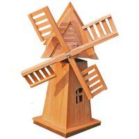 Holzdeko Windmühle Windrad Wind Mühle Holz Garten Deko Gartendekoration Tanne