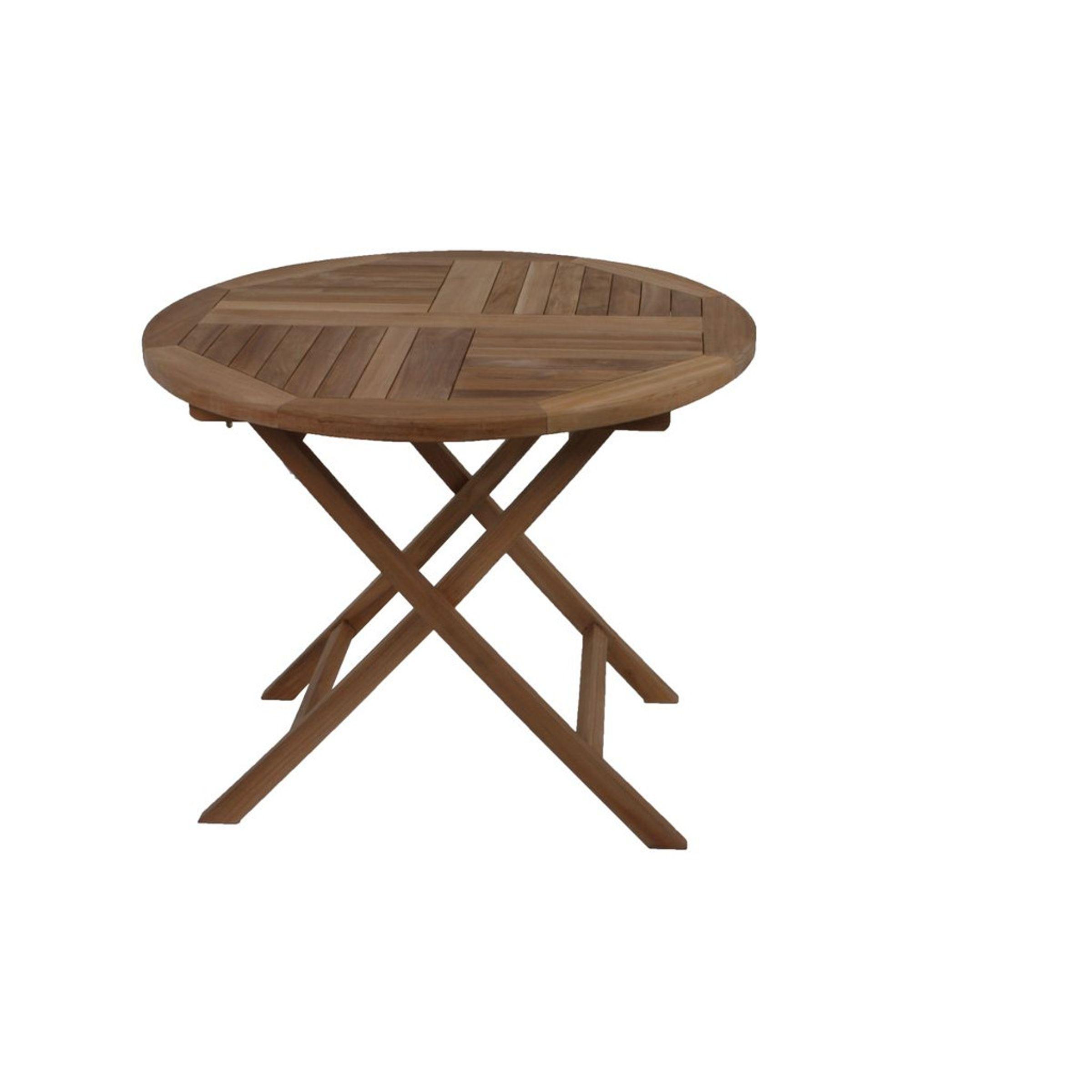 Teak Tisch Rund Holztisch Beistelltisch Couchtisch Wohnzimmertisch