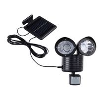2er Spot LED Solar Leuchte Gartenleuchte Gartenbeleuchtung mit Bewegungsmelder