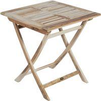 Tisch Klapptisch Balkontisch Kaffeetisch Holztisch klappbar Teak 70 x 70 cm